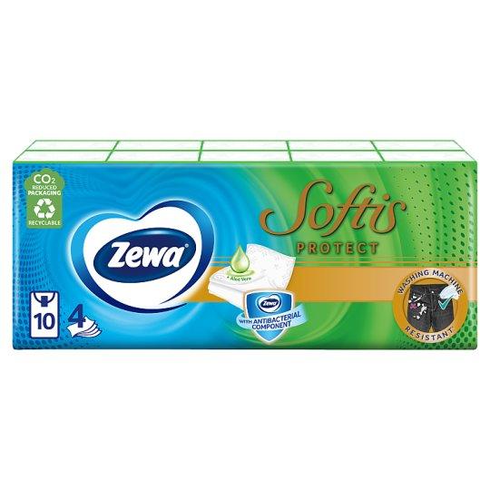 Zewa Softis Protect Scented Handkerchiefs 4 Ply 10 x 9 pcs