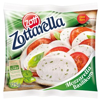 Zott Zottarella Fat Soft Mozzarella Cheese with Basil 125 g