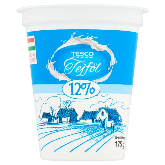 Tesco tejföl 12% 175 g