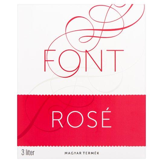 Font Kunsági Kékfrankos Rosé Dry Rose Wine 12% 3 l