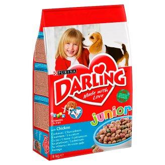 Darling Junior teljes értékű állateledel csirkével kölyökkutyák számára 6 hetes kortól 8 kg