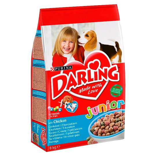 Darling Junior Complete Pet Food with Chicken and Vegetables for Puppies 6 Weeks+ 8 kg