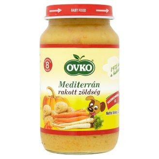 Ovko gluténmentes mediterrán rakott zöldség bébiétel 8 hónapos kortól 220 g