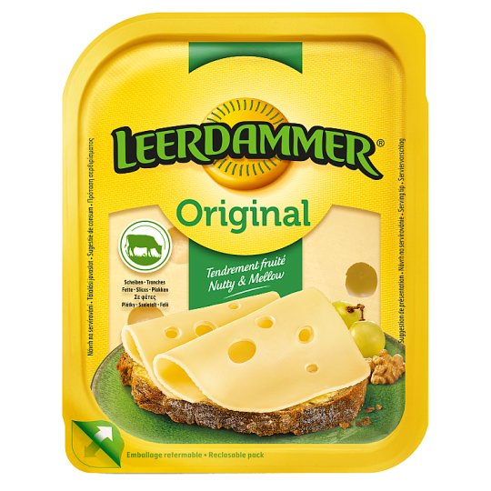 Leerdammer Original Fat Semi-Hard, Sliced Cheese 100 g