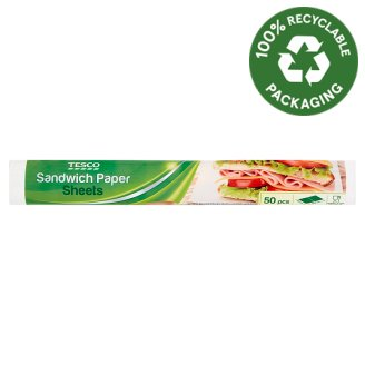 Tesco Sandwich Paper Sheets 29,5 cm x 23 cm 50 pcs