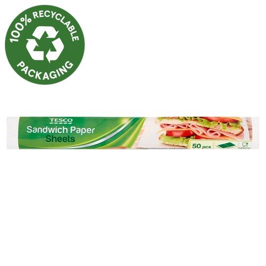 Tesco Sandwich Paper Sheets 29,5 cm x 23 cm 50 pcs