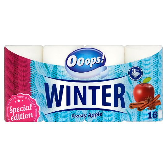 Ooops! Winter Frosty Apple Toilet Paper 3 Ply 16 Rolls