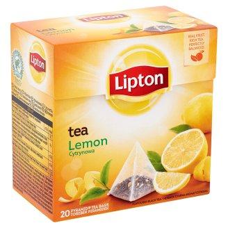 Lipton citrom ízesített fekete tea 20 filter