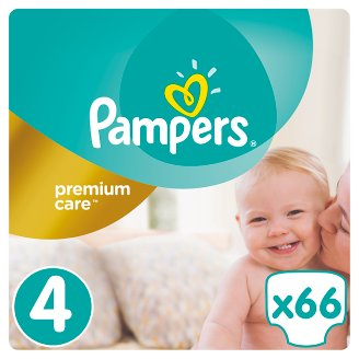 Pampers Premium Care Size 4 (Maxi) 8-14kg, 66 nappies