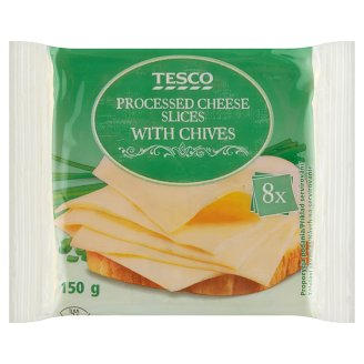 Tesco Processed Cheese Slices with Chives 8 pcs 150 g