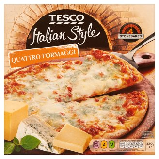 Tesco Italian Style Quick-Frozen Quattro Formaggi Pizza 320 g