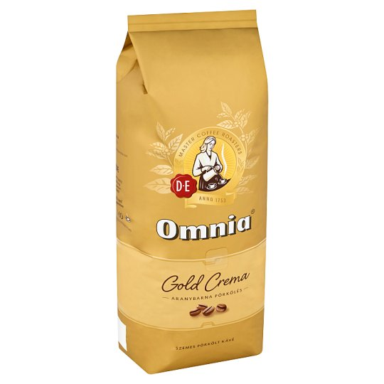 Douwe Egberts Omnia Gold Crema szemes pörkölt kávé 1000 g