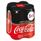 Caffeine-Free Coca-Cola Zero Energy-Free Carbonated Soft Drink with Sweeteners 4 x 330 ml