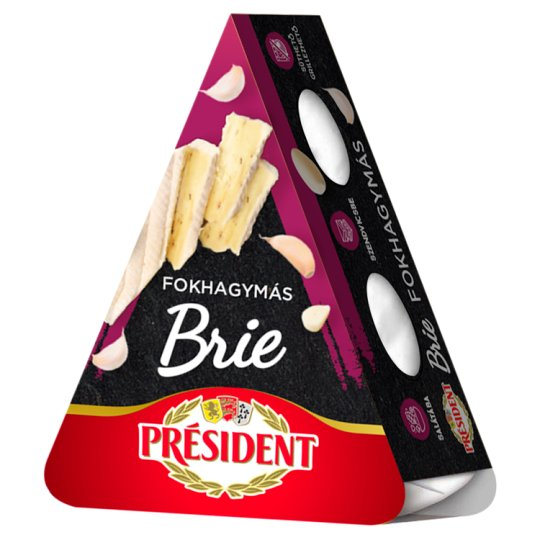 Président Brie Fat Soft Cheese with Garlic 125 g