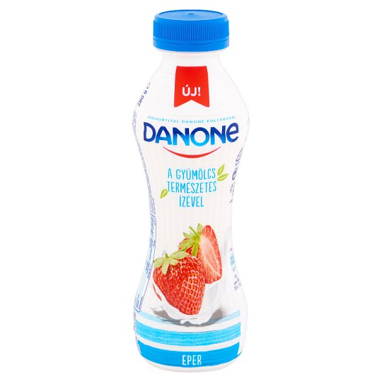 Danone Low-Fat Strawberry Flavoured Yoghurt Drink with Live Cultures 280 g