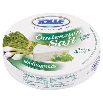 Tolle Spring Onion Flavoured Spreadable Semi-Fat Processed Cheese 140 g