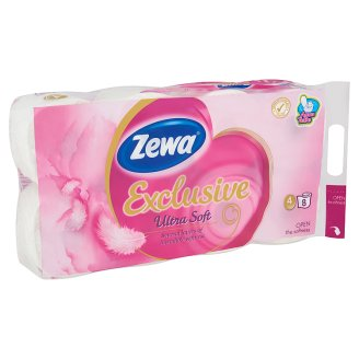 Zewa Exclusive Ultra Soft Toilet Paper 4 Ply 8 Rolls