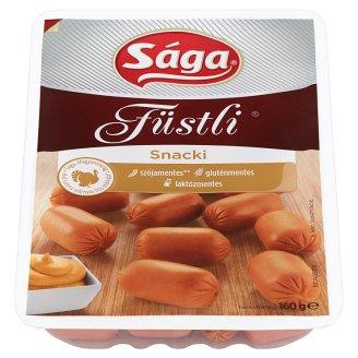 Sága Füstli Snacki főtt, füst ízesítésű, pulykahúsból készült termék 160 g