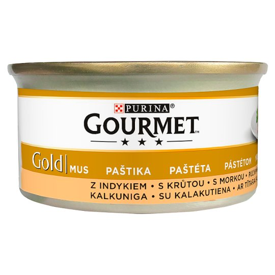 Gourmet Gold Paté Wet Cat Food with Turkey 85 g