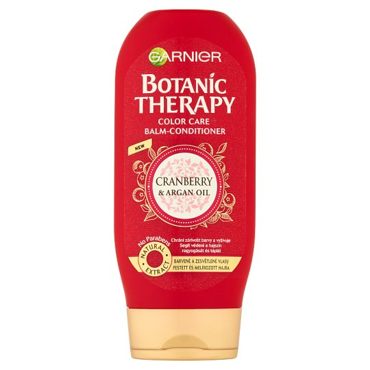 Garnier Botanic Therapy Cranberry & Argan Oil Balm-Conditioner for Dyed and Highlighted Hair 200 ml