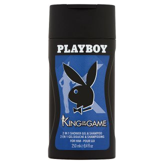 Playboy King of the Game 2 in 1 Shower Gel and Shampoo for Men 250 ml