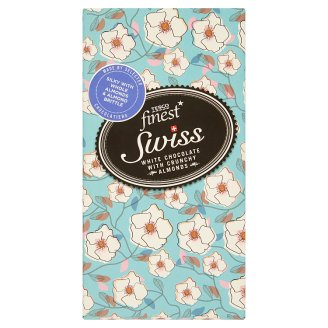 Tesco Finest White Chocolate with Almonds 180 g