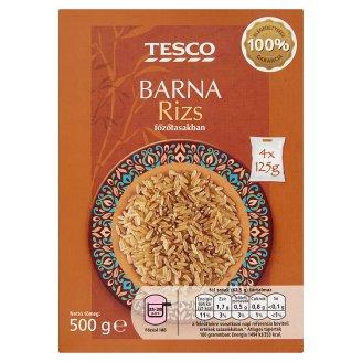 Tesco Brown Rice in Cooking Bag 4 x 125 g