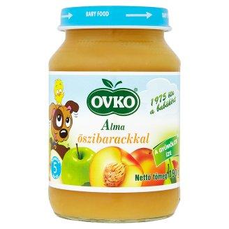 Ovko Gluten- and Dairy-Free Apple with Peach Baby Dessert 5+ Months 190 g