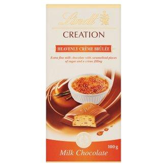 Lindt Creation tejcsokoládé karamellizált cukor darabokkal, krémmel töltve 100 g
