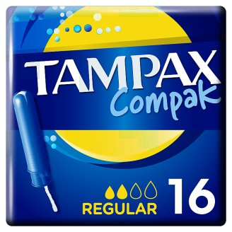 Tampax Compak Regular Applicator Tampons 16 X