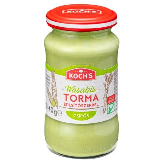 KOCHs Hot Horseradish with Wasabi and Sweetener 140 g