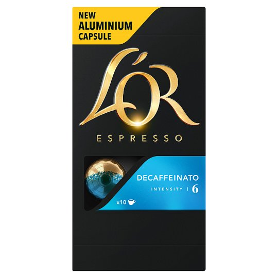 L'OR Espresso Decaffeinato Decaffeinated Ground-Roasted Coffee in Capsules 10 pcs 52 g