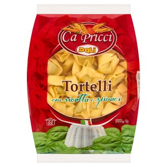 Dalì Ca' Pricci Tortelli Fresh Egg Pasta with Ricotta and Spinach Filling 500 g