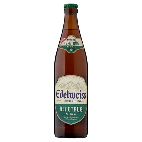 Edelweiss Unfiltered Lager Wheat Beer 5,3% 0,5 l Bottle