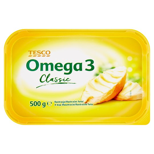 Tesco Omega 3 Classic 50% Fat Content Margarine 500 g