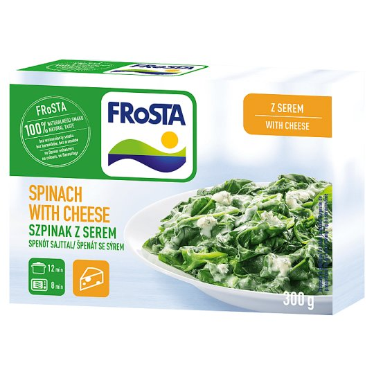 FRoSTA Quick-Frozen Spinach with Cheese 300 g