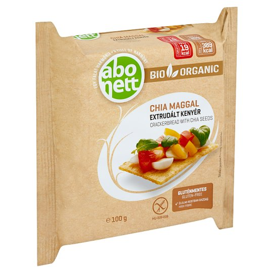 Abonett Organic Gluten-Free Crackerbread with Chia Seeds 100 g