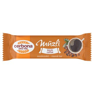 Cerbona Coffee Cereal Bar in White Coating 20 g