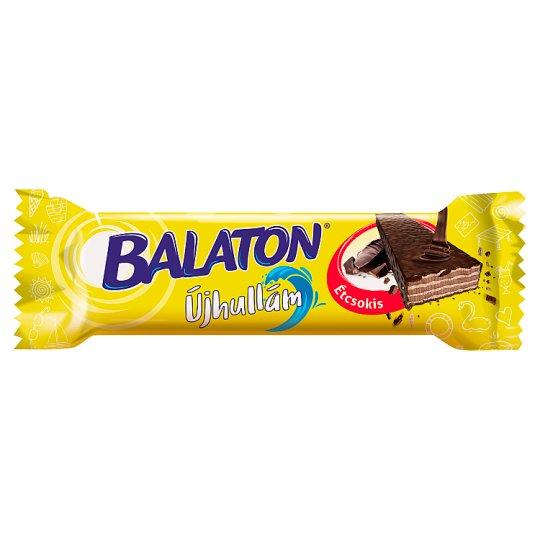 Balaton Újhullám Cocoa Cream Filled Wafer Dipped in Dark Chocolate 33 g