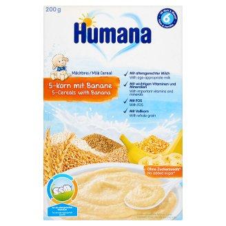 Humana tejpép 5 gabonával és banánnal 6 hónapos kortól 200 g