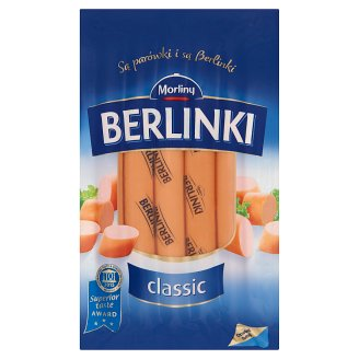 Morliny Berlinki Classic Smoked, Cooked Pork Frankfurters 250 g