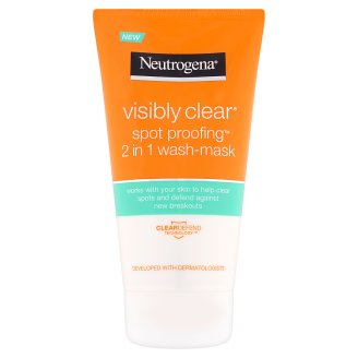 Neutrogena Visibly Clear Spot Proofing 2 in 1 arclemosó és maszk 150 ml