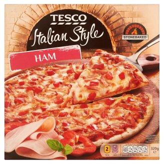 Tesco Italian Style gyorsfagyasztott sonkás pizza 320 g