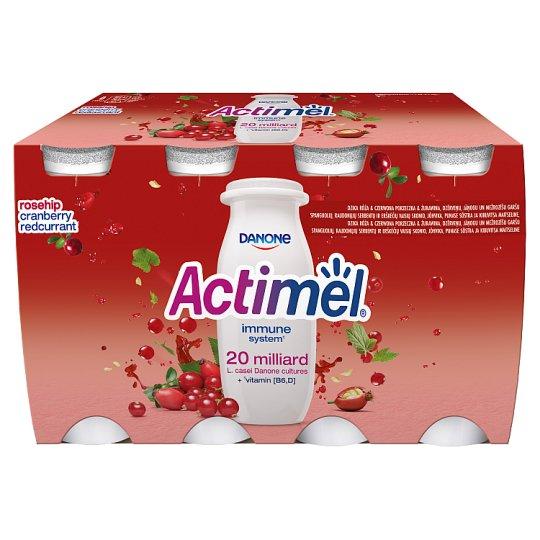 Danone Actimel zsírszegény, élőflórás, áfonya-, ribizli- és csipkebogyóízű joghurtital 8 x 100 g