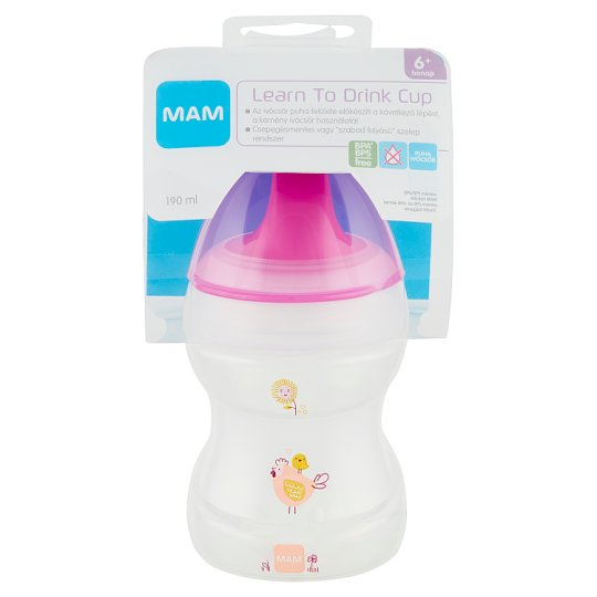 MAM 190 ml Learn To Drink Cup with Dripping-Free Valve 6+ Months