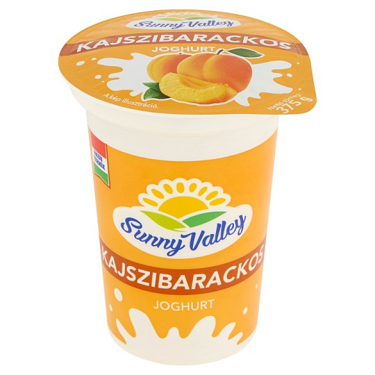 Sunny Valley Low-Fat Apricot Yoghurt with Live Cultures 375 g