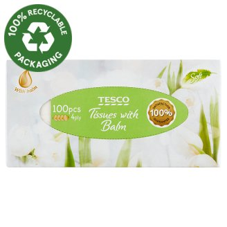 Tesco papírzsebkendő 4 rétegű 100 db
