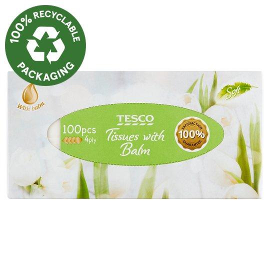 Tesco Handkerchiefs 4 Ply 100 pcs