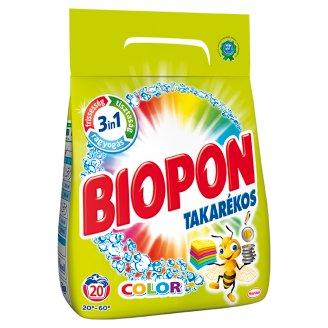 Biopon Takarékos Color mosószer por színes ruhákhoz 20 mosás 1,4 kg