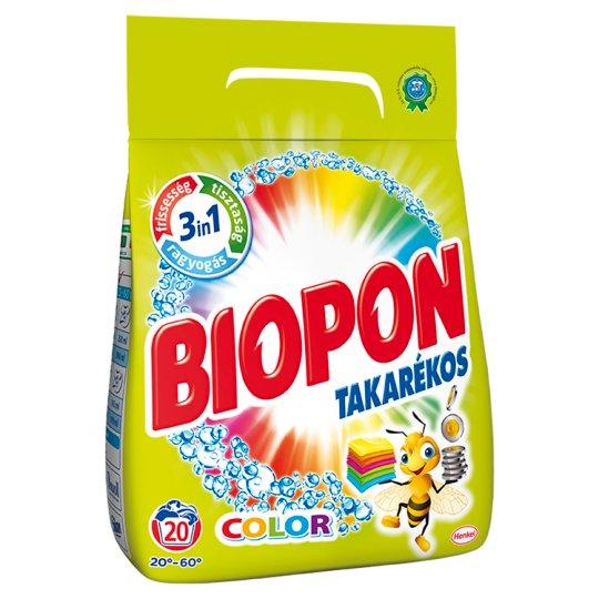 Biopon Takarékos Color Powder Detergent for Color Clothes 20 Washes 1,4 kg